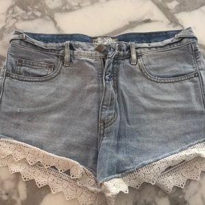 Free people shorts denim jean 27